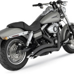 2006-up Vance & Hines Black Big Radius Exhaust System – 46013
