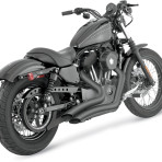 2005-up Vance & Hines Black Big Radius Exhaust – 46055