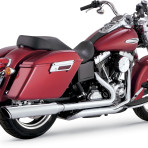 2012-up Vance & Hines Switchback Duals w/Twin Slash Slip-On Mufflers – 16853