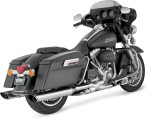 1995-up Vance & Hines Chrome Monster Oval Twin Slash Slip-On Mufflers – 16765