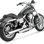 1999-up (except 10-13 fxdwg) Vance & Hines Chrome Round Twin Slash Slip-On Mufflers – 16837