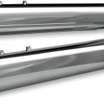 1995-up 4″ Race Tour Mufflers by S&S Cycle (slash down chrome end caps) 1801-0616