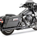 2010-up Vance & Hines Black Power Duals Headpipes – 46849