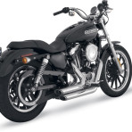 2004-up Vance & Hines Chrome Shortshots Staggered Exhaust System – 17219