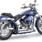 1987-1999 Vance & Hines Chrome Shortshots Exhaust System – 17207