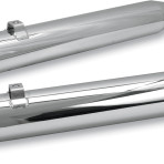 1995-up 3 1/2″ Power Tune Mufflers by S&S Cycle Slash-down (chrome) 1801-0462